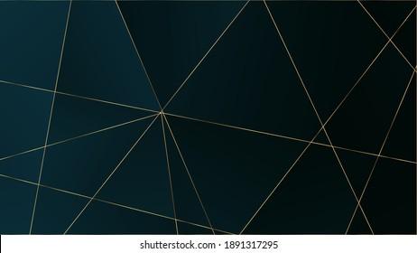 Blue Luxury Polygon Pattern. VIP Rich Silver Geometric Celebration Background. Gold Lines Triangular Premium Frame. Crystal Triangle Blue Luxury Wallpaper. Elegant Dark Platinum Chic Shapes Border