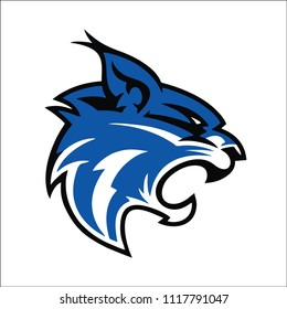 blue lynx mascot logo illustration