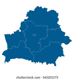 Blue map of andorra