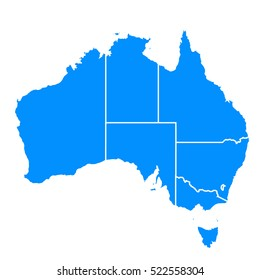 Map Of The States Of Australia.Australia States Icons Images Stock Photos Vectors Shutterstock