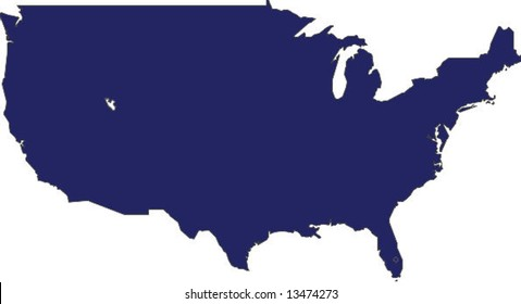 Continental Us Map Images, Stock Photos & Vectors | Shutterstock