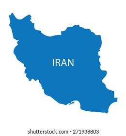 blue map of Iran