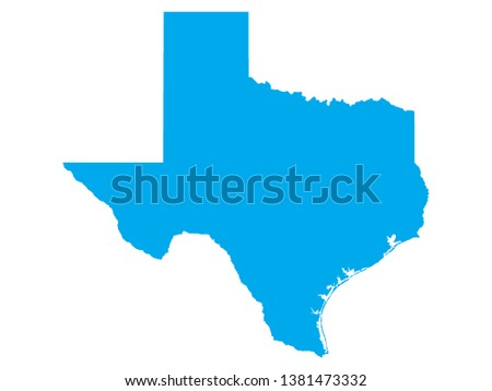 Blue Map US Federal State Texas Stock Vector (Royalty Free ...