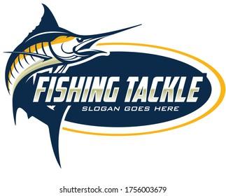 Blue Marlin Fishing Logo Template. Great for Blue marlin fishing Activity.