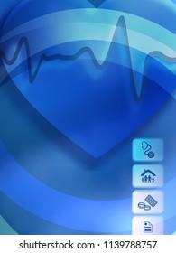 Blue medical background abstract - concept health care or medicine technology. Vector Illustration EPS 10, Graphic Design elements vertical banner, flyer dental service, presentation