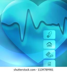 Blue medical background abstract - concept health care or medicine technology. Vector Illustration EPS 10, Graphic Design elements vertical banner, flyer dental service, presentation template brochure