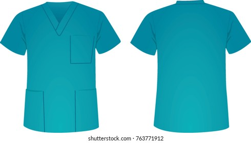 Blue medical uniform. vector illustration