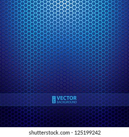 Blue metallic grid background. RGB EPS 10 vector illustration