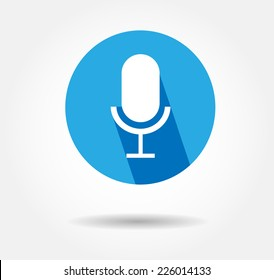 Blue Microphone Icon