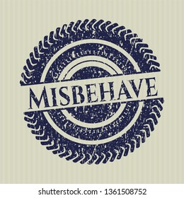 Blue Misbehave with rubber seal texture