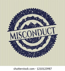 Blue Misconduct distress rubber seal