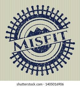 Blue Misfit distressed rubber texture