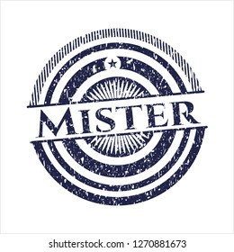Blue Mister distressed rubber grunge texture seal