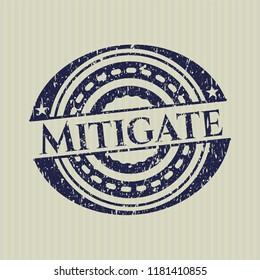 Blue Mitigate distress grunge seal