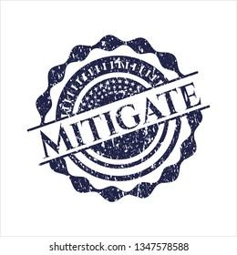 Blue Mitigate distress grunge stamp