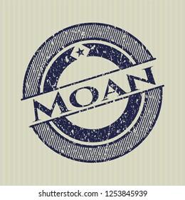 Blue Moan distress rubber stamp
