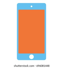 Blue mobile phone icon. Smarphone vector eps10 sign.
