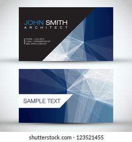 d529133ef34dd Blue Modern Abstract Business - Card Set