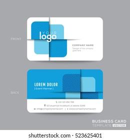 Blue modern business card design