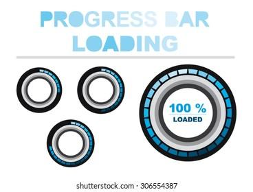 Blue Modern Circle Progress Bar Loading
