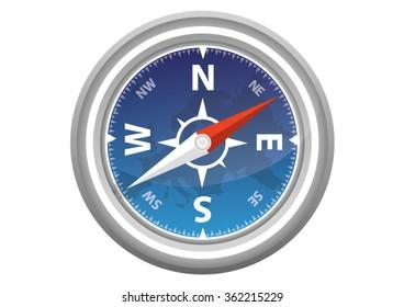 Blue Modern Compass