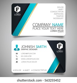 Blue black modern creative business card stock vector 566666917 blue modern creative business card and name cardhorizontal simple clean template vector design reheart Gallery