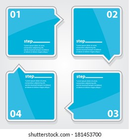 blue Modern Design glossy banners template / can be used for infographics / numbered banners / horizontal cutout lines / graphic or website layout vector