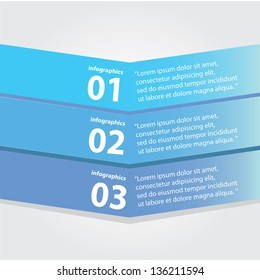 Blue modern Design template / can be used for infographics / numbered banners / horizontal cutout lines / graphic or website layout vector