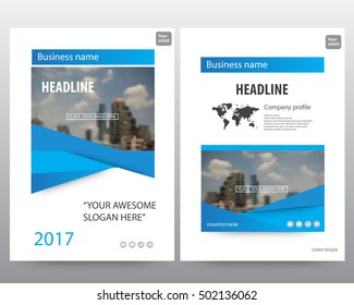Blue modern elegance annual report brochure flyer design template vector, Leaflet cover presentation abstract flat background,modern business background layout in A4 size