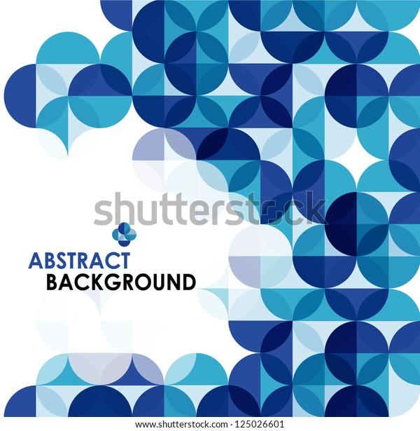 青のモダンな幾何学的な抽象的背景