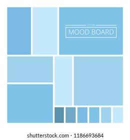 Blue moodboard Vector Illustration