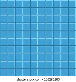 Blue Mosaic Tiled Wall Background
