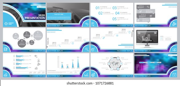 Blue, multicolored, elements for infographics, white background. Presentation templates. Presentation, leaflet and flyer, corporate report, Internet, marketing, advertising, annual report, slideshow
