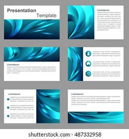 blue multipurpose Infographic elements and icon presentation template flat design set for advertising marketing