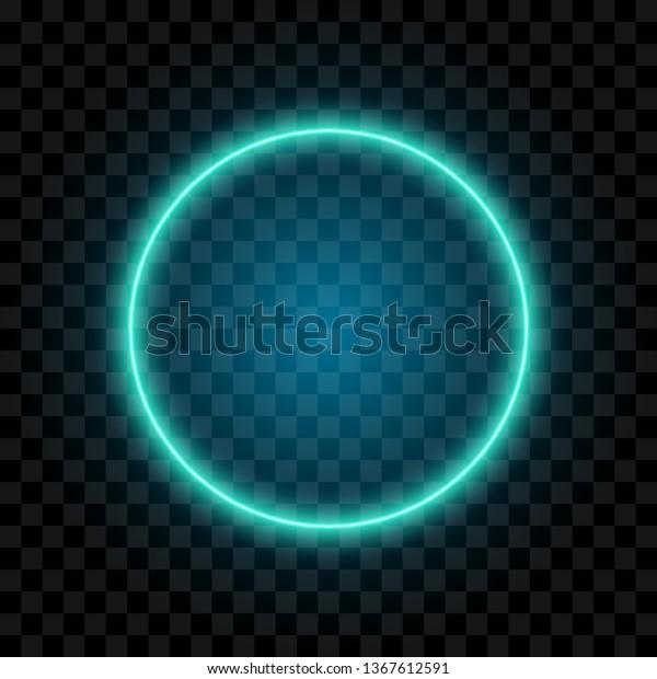 Vector De Stock Libre De Regalías Sobre Blue Neon Circle