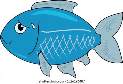 Blue Nervous Fish