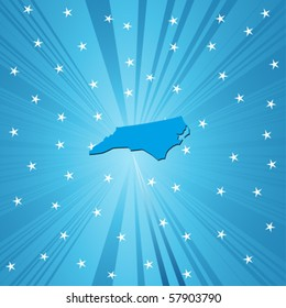 Blue North Carolina map, abstract background for your design