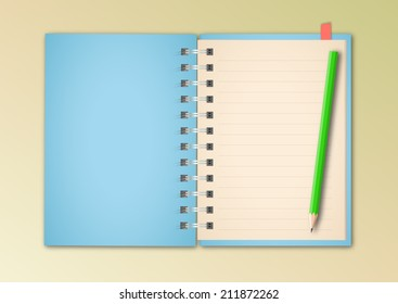 Blue Notebook Vector