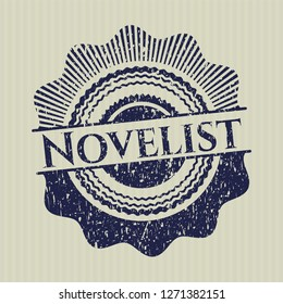Blue Novelist distress grunge stamp