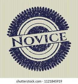 Blue Novice rubber stamp