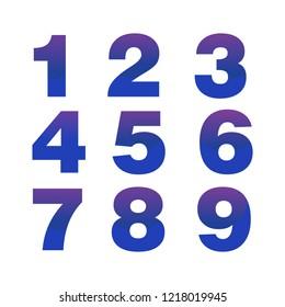 blue numeric isolated design
