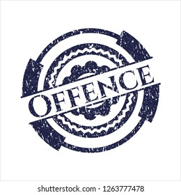 Blue Offence rubber grunge texture seal