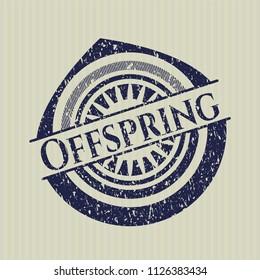 Blue Offspring rubber grunge seal