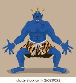 Blue ogre in Japan