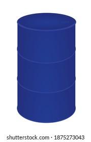 Blue oil barrel. vector illustration