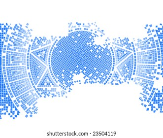 blue old mosaic vector background