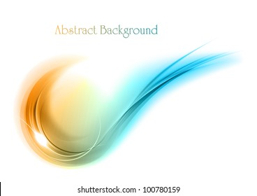blue and orange abstract shape