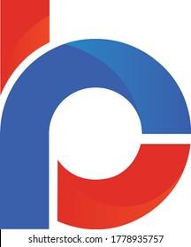 Blue and Orange RB Logo design icon