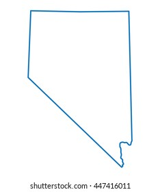 blue outline of Nevada map