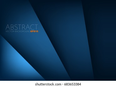 Blue paper background vector overlap layer with space for text and message design